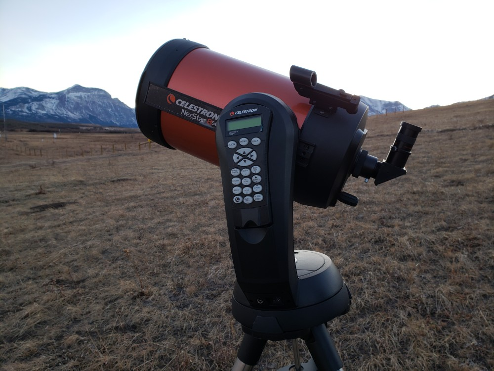 """The Celestron NexStar 8 SE Telescope features Schmidt-Cassegrain 8"""" aperture optics with SkyAlign alignment technology. This is our go-to telescope; the workhorse!"""