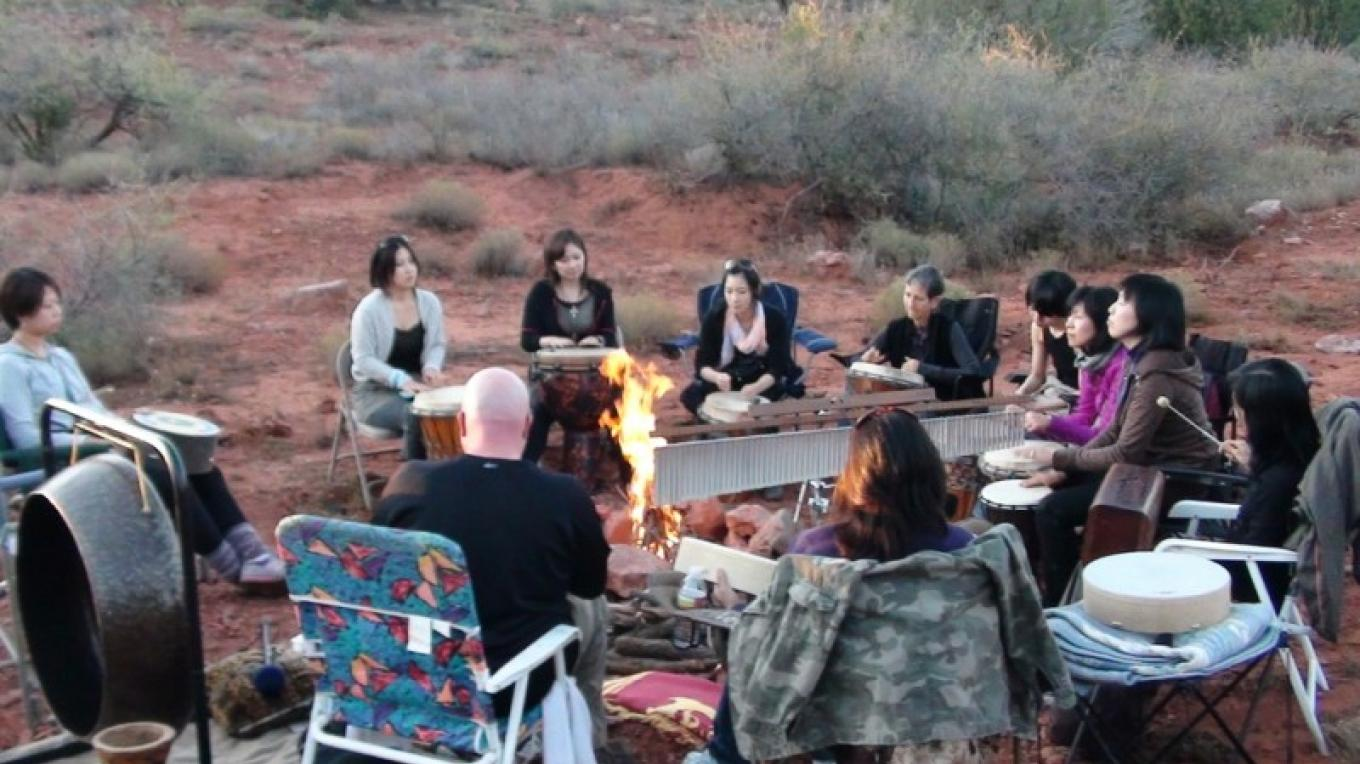 A fire ceremony at sunset. – Jim Reich