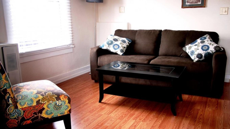 Living room in #207 – Daniel Conlin