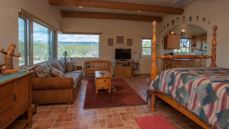 Living Room/Bedroom. Queen bed and queen sofa bed. – Nina Hubbard