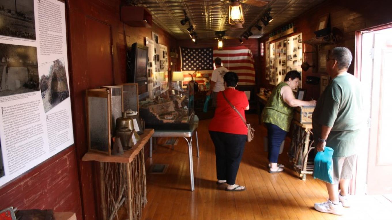 Visitors enjoy the displays – Ellen JD Roberts
