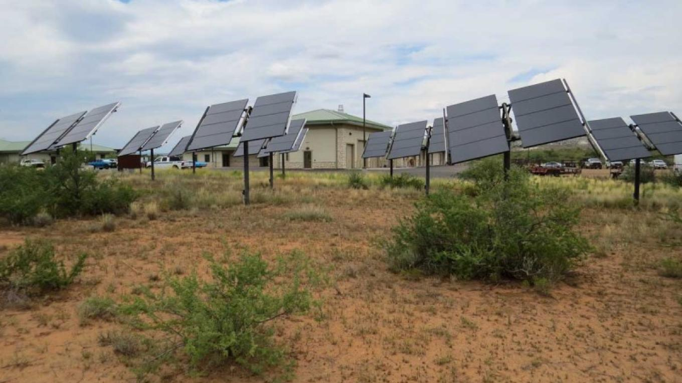Solar panels offset the cost of electricity and help the environment. – USDA Forest Service