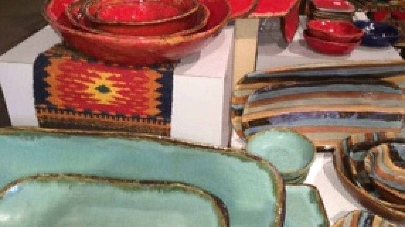 Bright, functional ceramics by local Jacque Jackson, the granddaughter of Walter and Ruth Jordan, among the original pioneers of Sedona. – Zonies Galleria