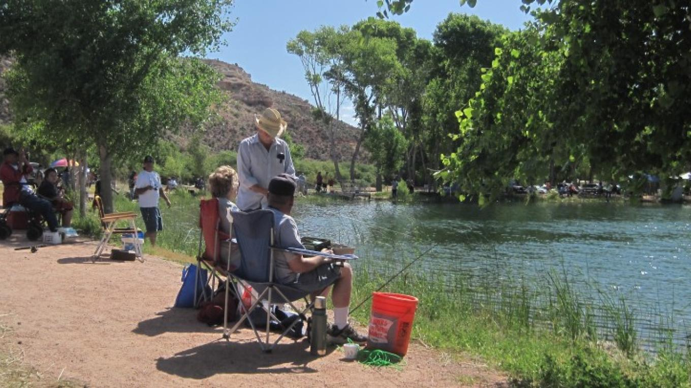 Fishing at the stocked lagoons is a popular activity at Dead Horse Ranch State Park in Cottonwood, Arizona – Arizona State Parks