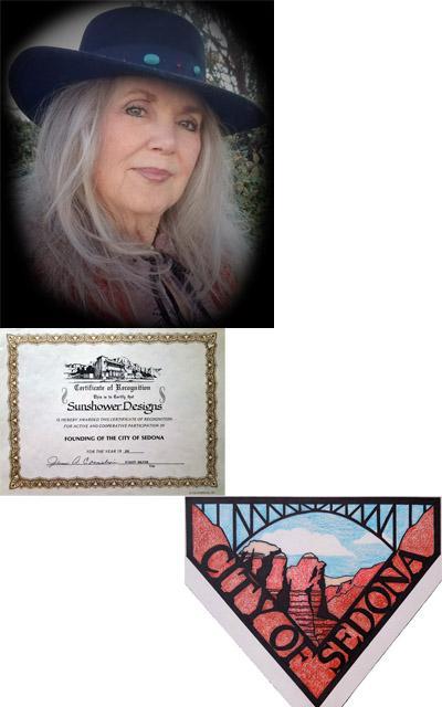 Sunshower Rose, Designer of official City of Sedona logo