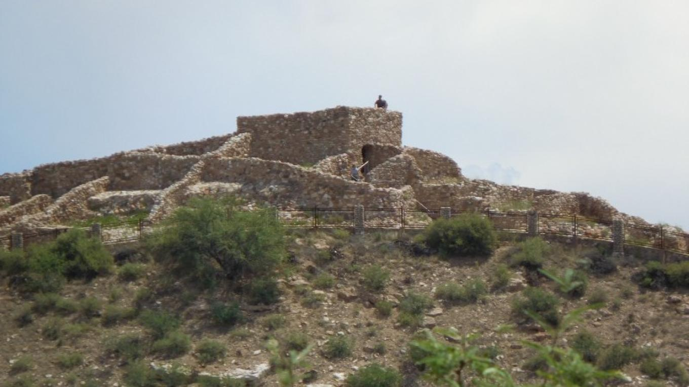 View of Tuzigoot as seen from the access road into the monument – NPS photo