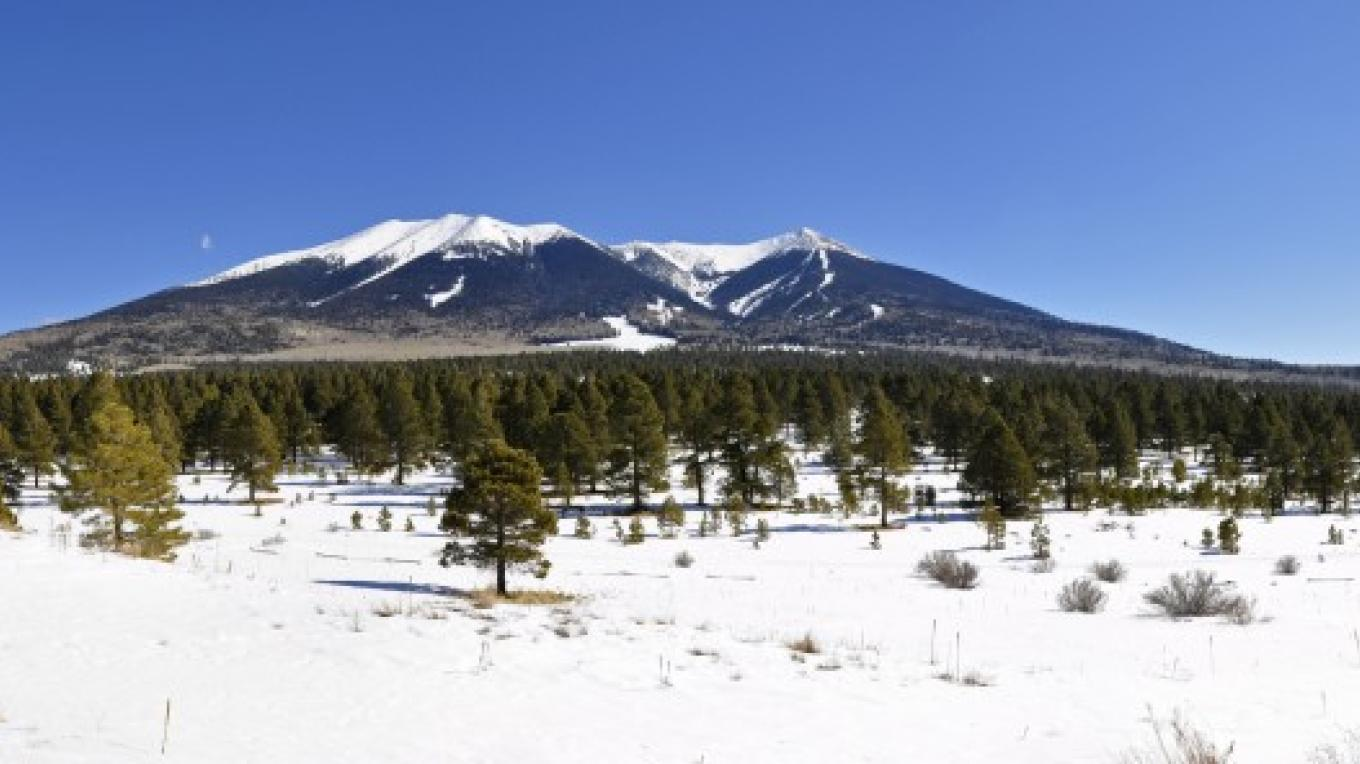 The San Francisco Peaks with snow. Flagstaff Ranger District. – Brady Smith, Coconino National Forest Employee