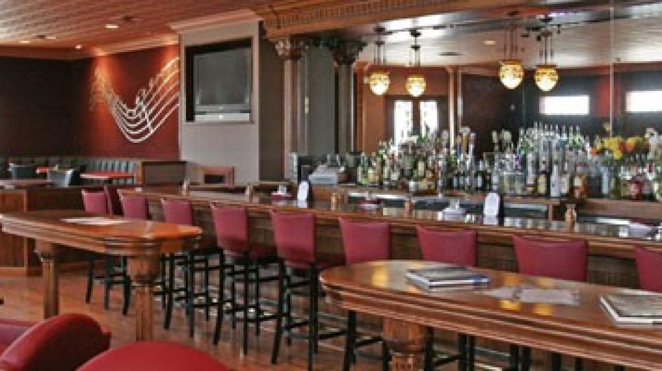 An extensive back bar to concoct any libation