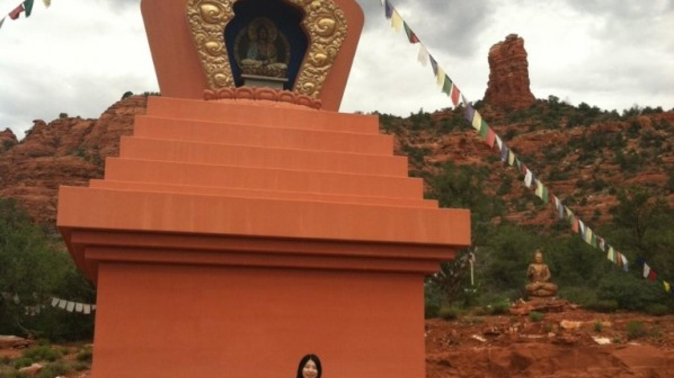 The Stupa, a Sedona hidden gem. We offer yoga and meditation while here. – Jim Reich