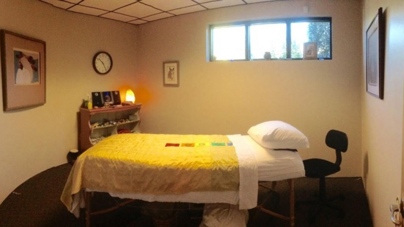 Reiki, Massage, and Healing Session room