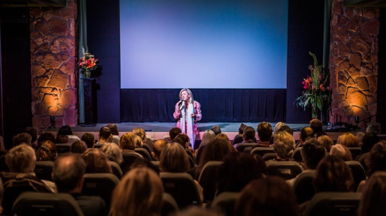 Sarah McLean teaching meditation at the Illuminate Film Festival, Sedona, Arizona – Andrew Holman