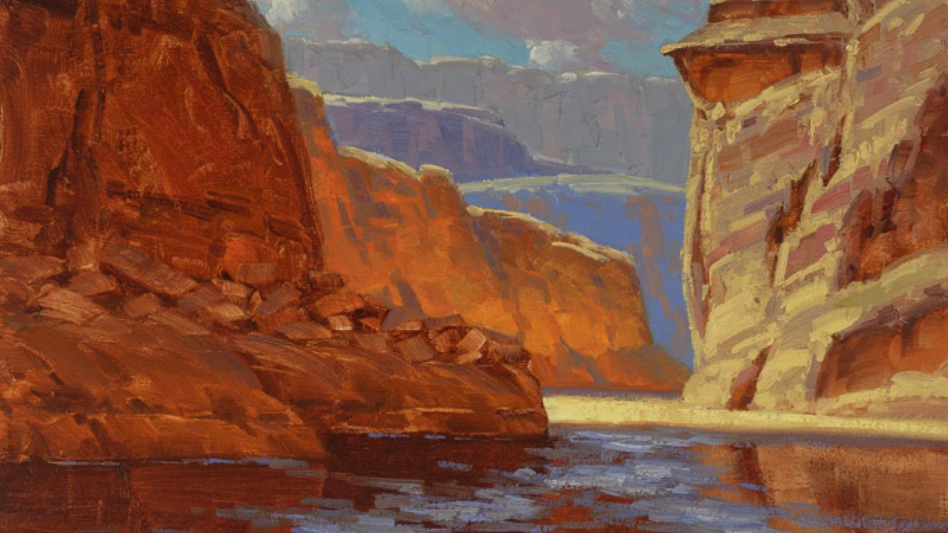 Colors of the Canyon - Oil painting by Cody DeLong – Cody DeLong