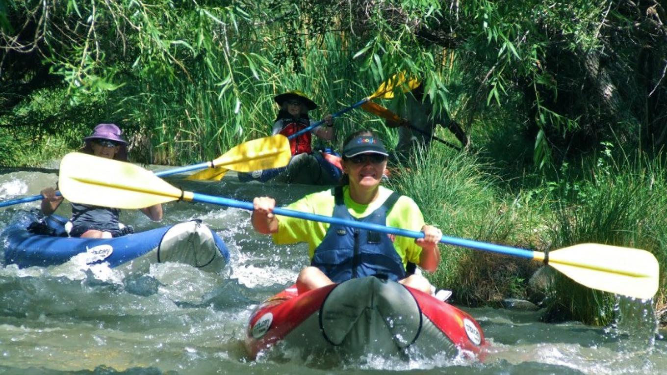 The water is spring fed and is cool and crisp on the Verde River – Al Comello
