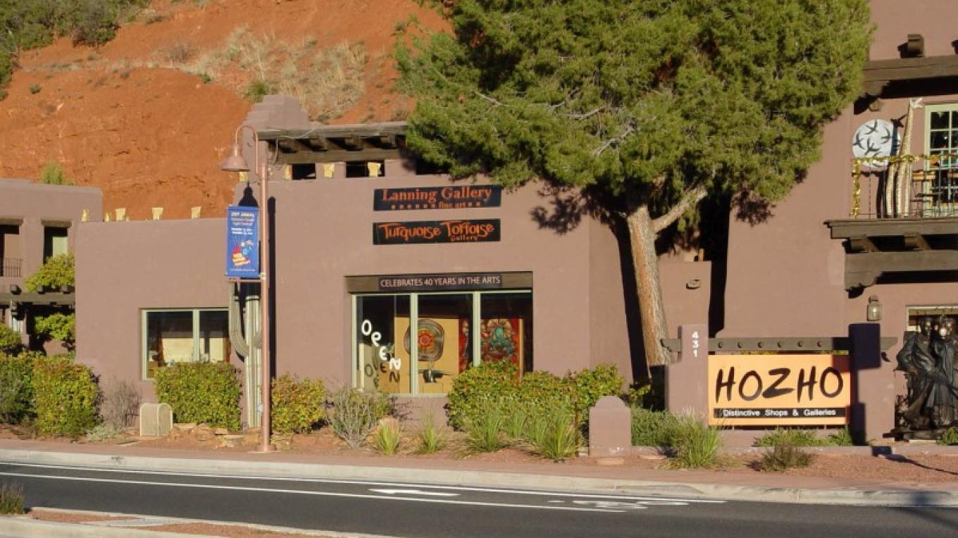 Turquoise Tortoise Gallery is located at Hozho in the heart of the Gallery District. – courtesy Turquoise Tortoise Gallery