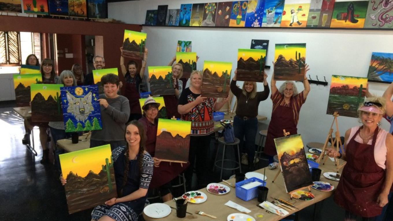 Southwest Sunset Painting Class – Tony Schmitt