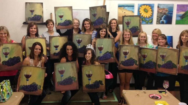 Wine & Grapes Painting Class – Tony Schmitt