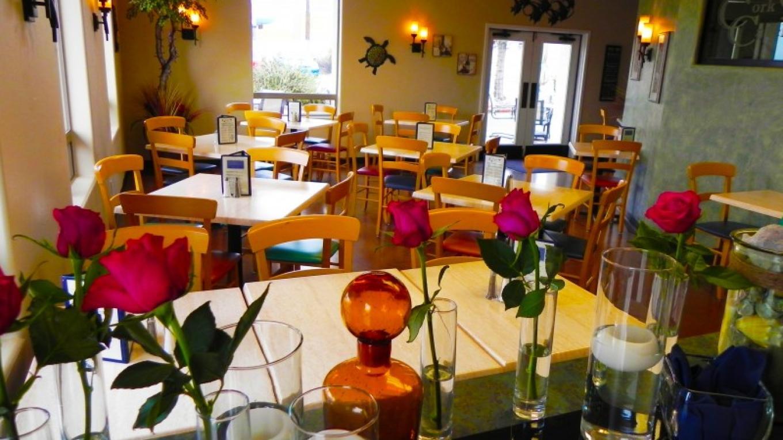 Cork & Catch's dining room