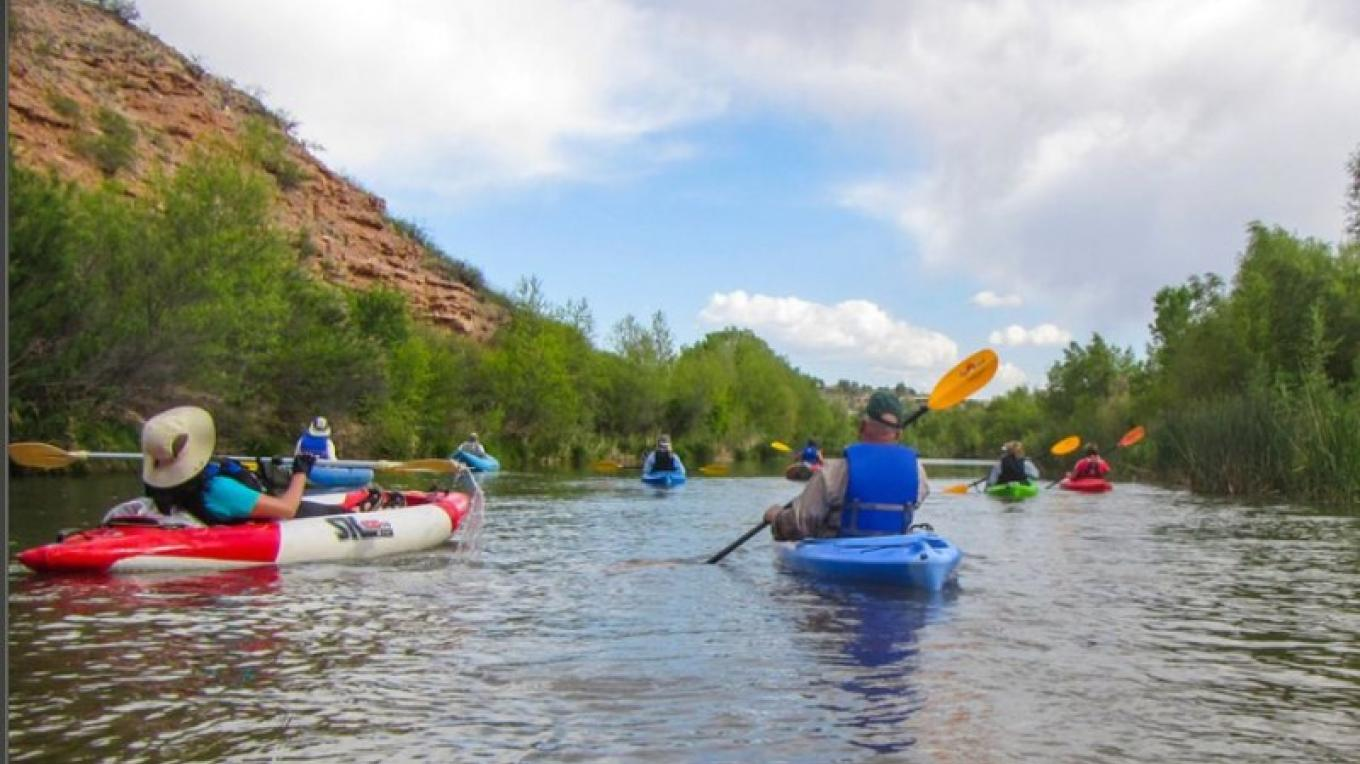 Relaxing on the Verde River – Doug Von Gausig