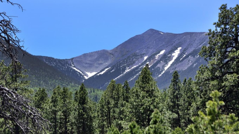 Humphreys Peak in the Kachina Peaks Wilderness. Flagstaff Ranger District. – Brady Smith, Coconino National Forest Employee