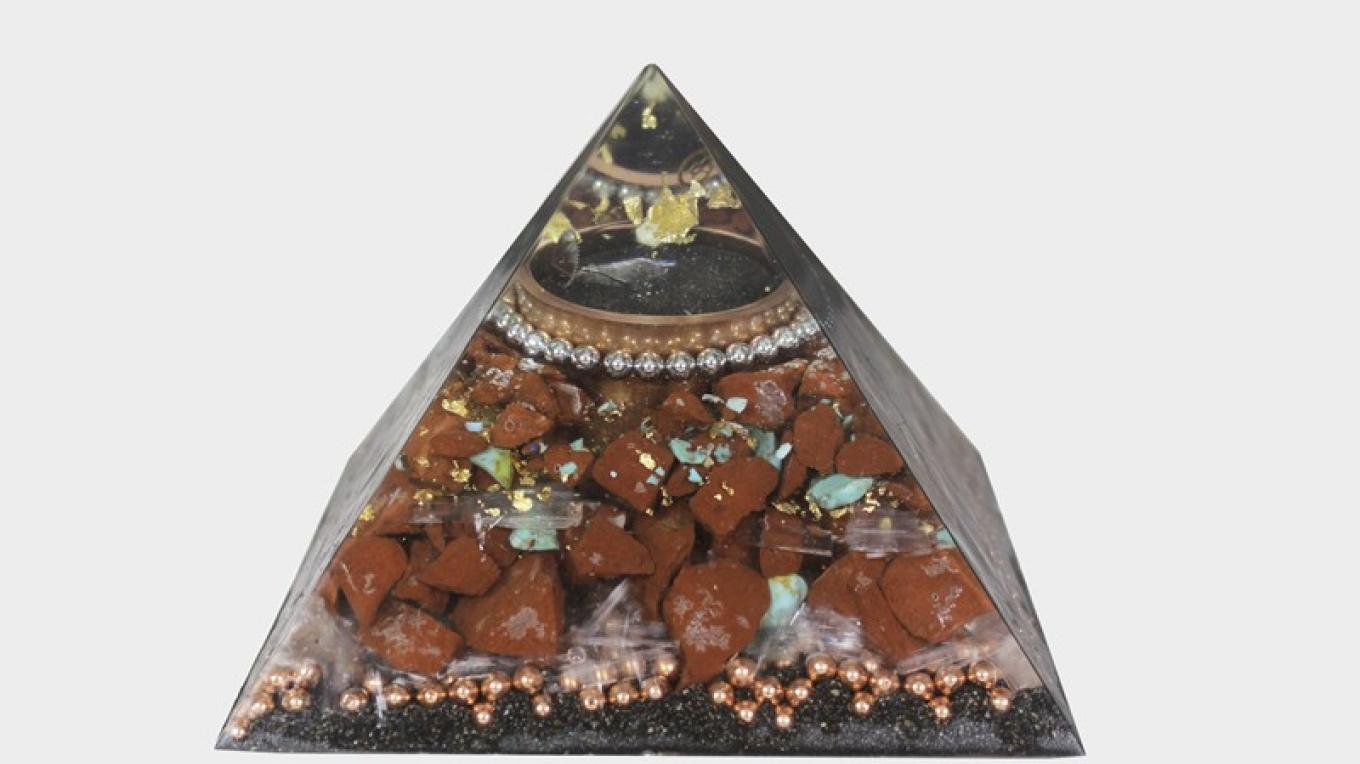 Organite Pyramid with Sedona Marble – Artline Graphics/ Mystical Bazaar