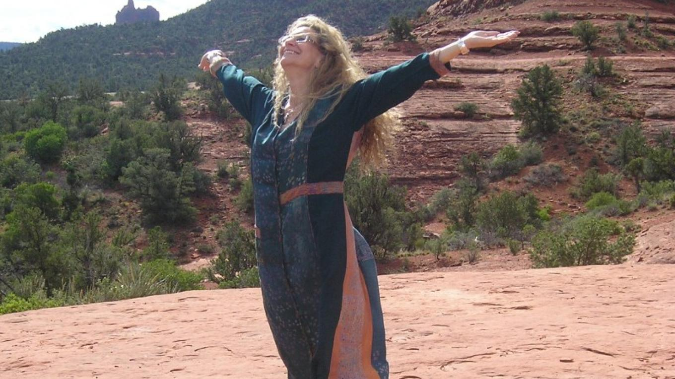 Nirup, experiencing the blessings of Sedona.