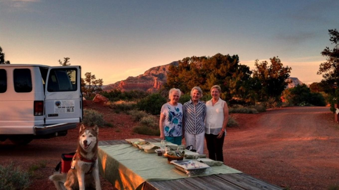 Gourmet picnic during sunset – Jim Reich