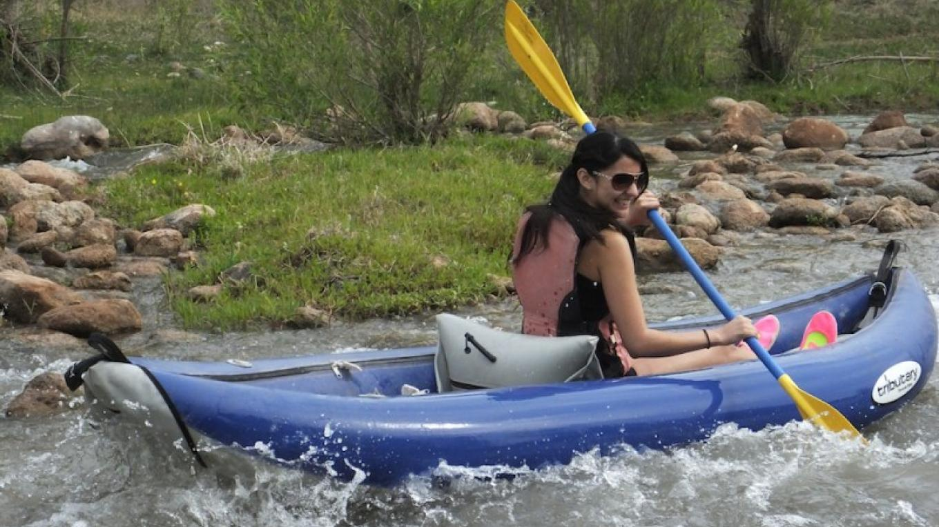 Kayaking on the Verde River in an inflatable kayak provided by Verde Adventure Company – Al Comello