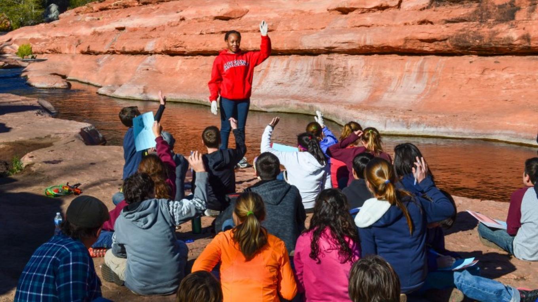 Water sampling education at Slide Rock State Park with University of Arizona – Dalton Zanetti