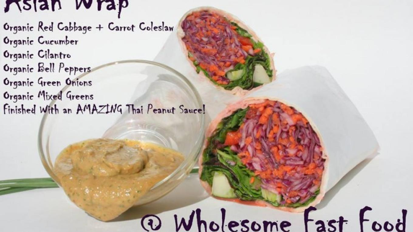 Popular Asian Wrap with amazing Thai peanut dipping sauce! – Jennifer Richards