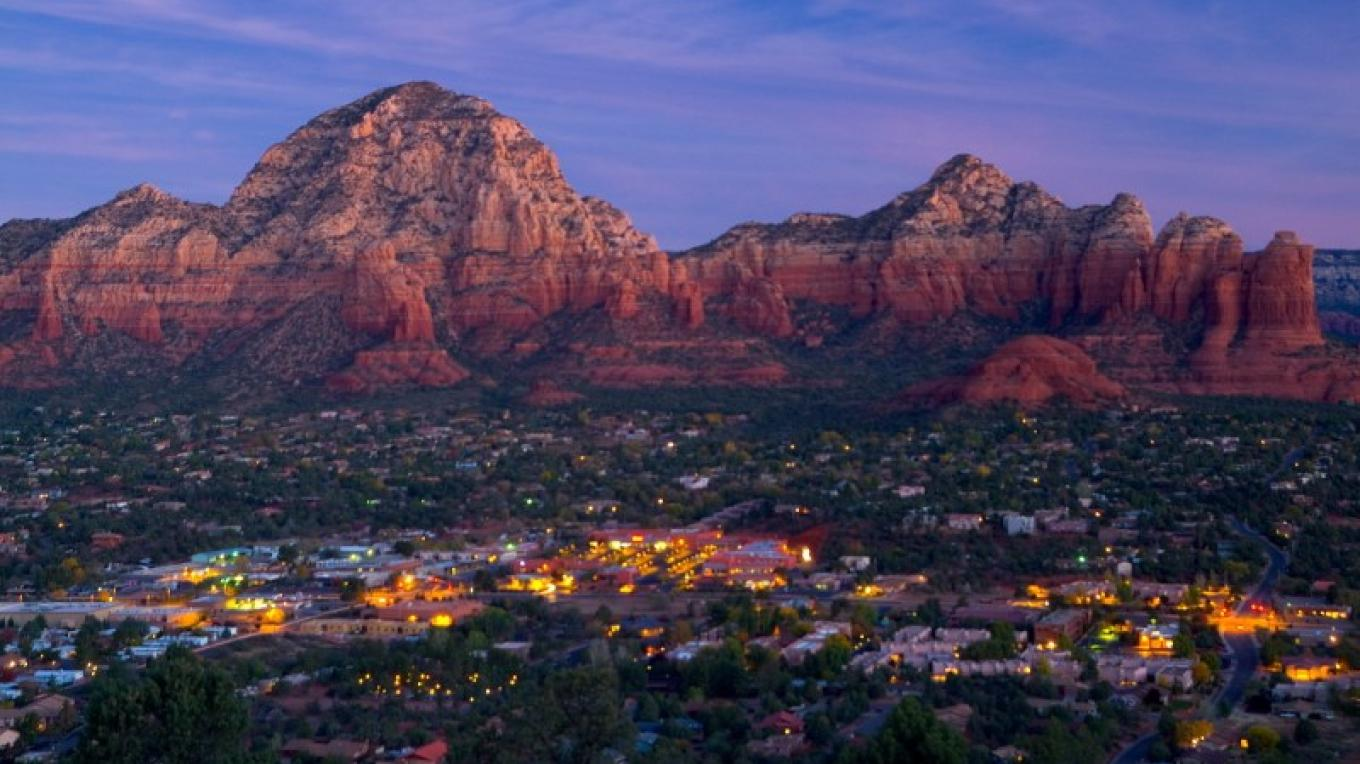 View from Airport Mesa at Sunrise – Property of Sedona Chamber