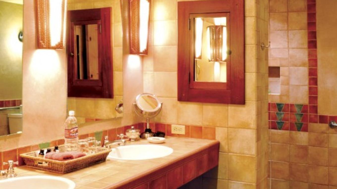 The Adobe Suite 1 - Handicap Accessible Bathroom with Walk-in Shower – Sunflower Studios