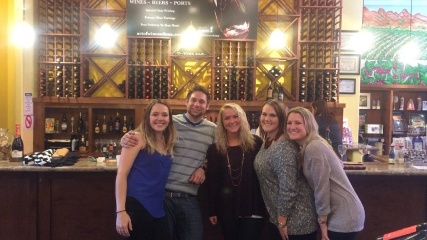 Clients enjoying The Art of Wine – Jim Reich