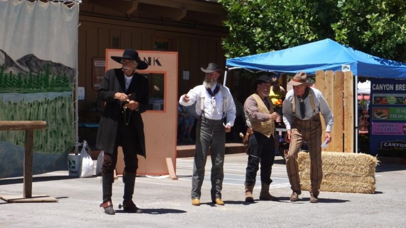 Red Rock Posse gunfight reenactments – Al Comello