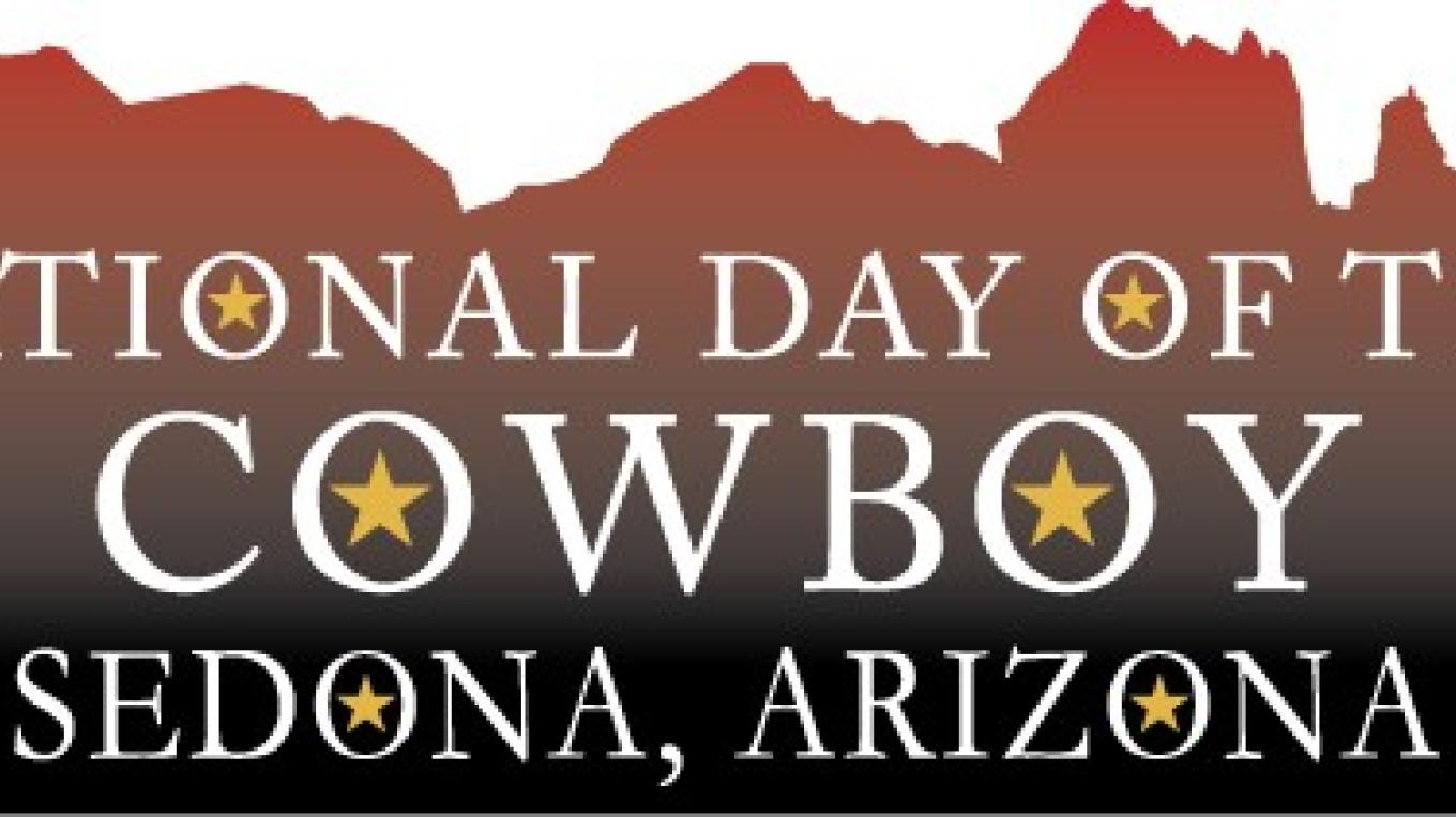 Sedona's National Day of the Cowboy Celebration event logo – Sedona Main Street Program