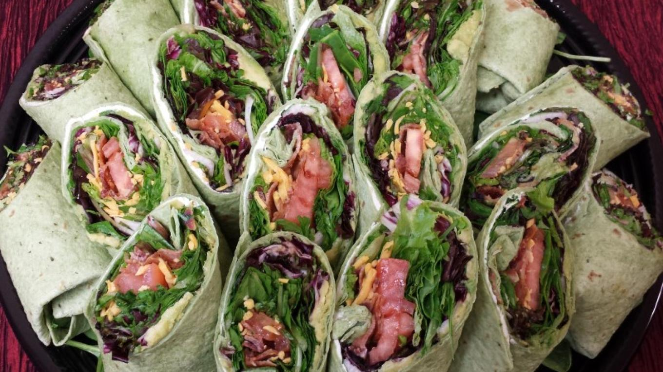 Try one of our delicious wraps