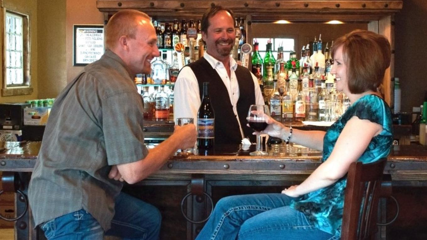 Belly up to the bar and partake in a local wine or microbrew at the Copper Spur Saloon located in the courtyard. – Josh Gray