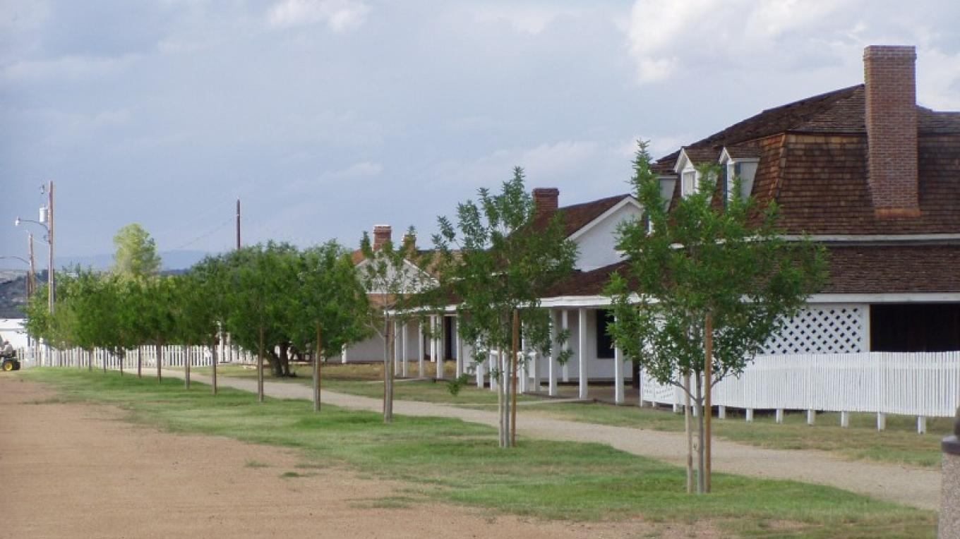 Historic Officer's Row today – Sheila Stubler