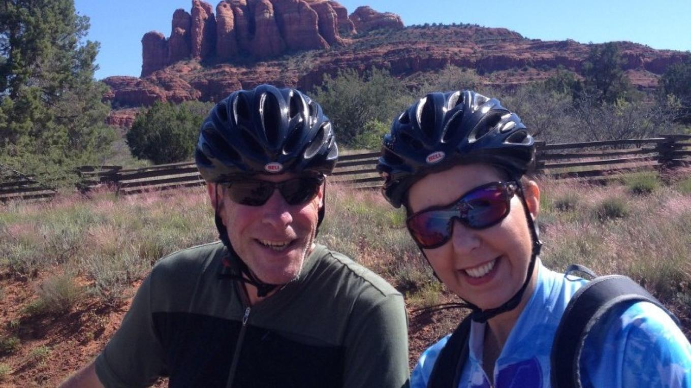 A happy couple in front of Cathedral Rock. – Heather Parris