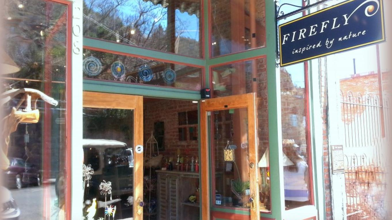 Located on historic Main Street in Jerome Arizona right next to the famous Paul and Jerry's Saloon. – Firefly Gallery