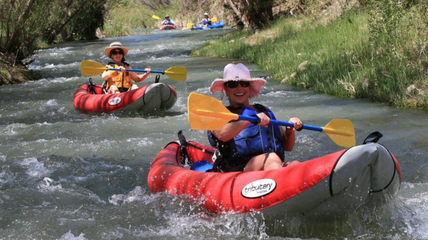 Kayaking on the Verde River is a great vacation experience. – Al Comello