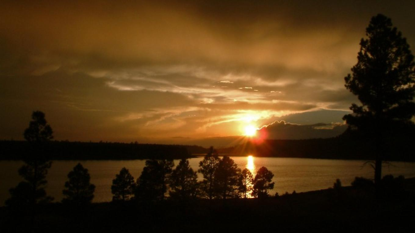 Upper Lake Mary at Sunset. Flagstaff Ranger District. – Gary Garner, Coconino National Forest Employee