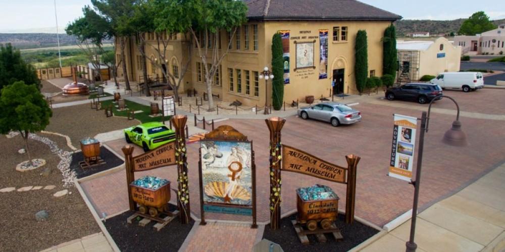 Arizona Copper Art Museum - Front, Birds-eye view – Arizona Copper Art Museum