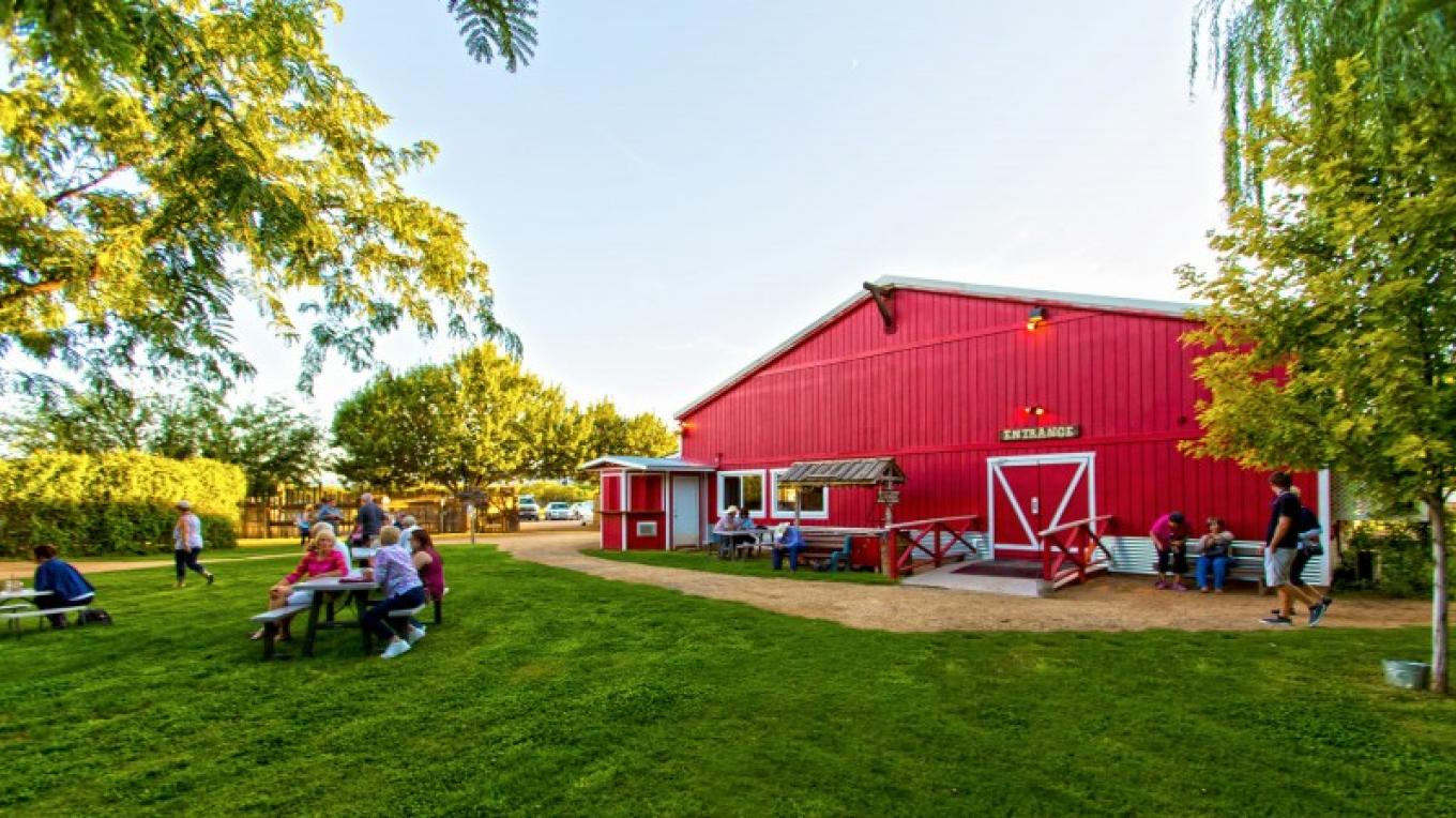 Our dining barn grubs out 280 wranglers comfortably so bring the whole posse! – Josh Gray