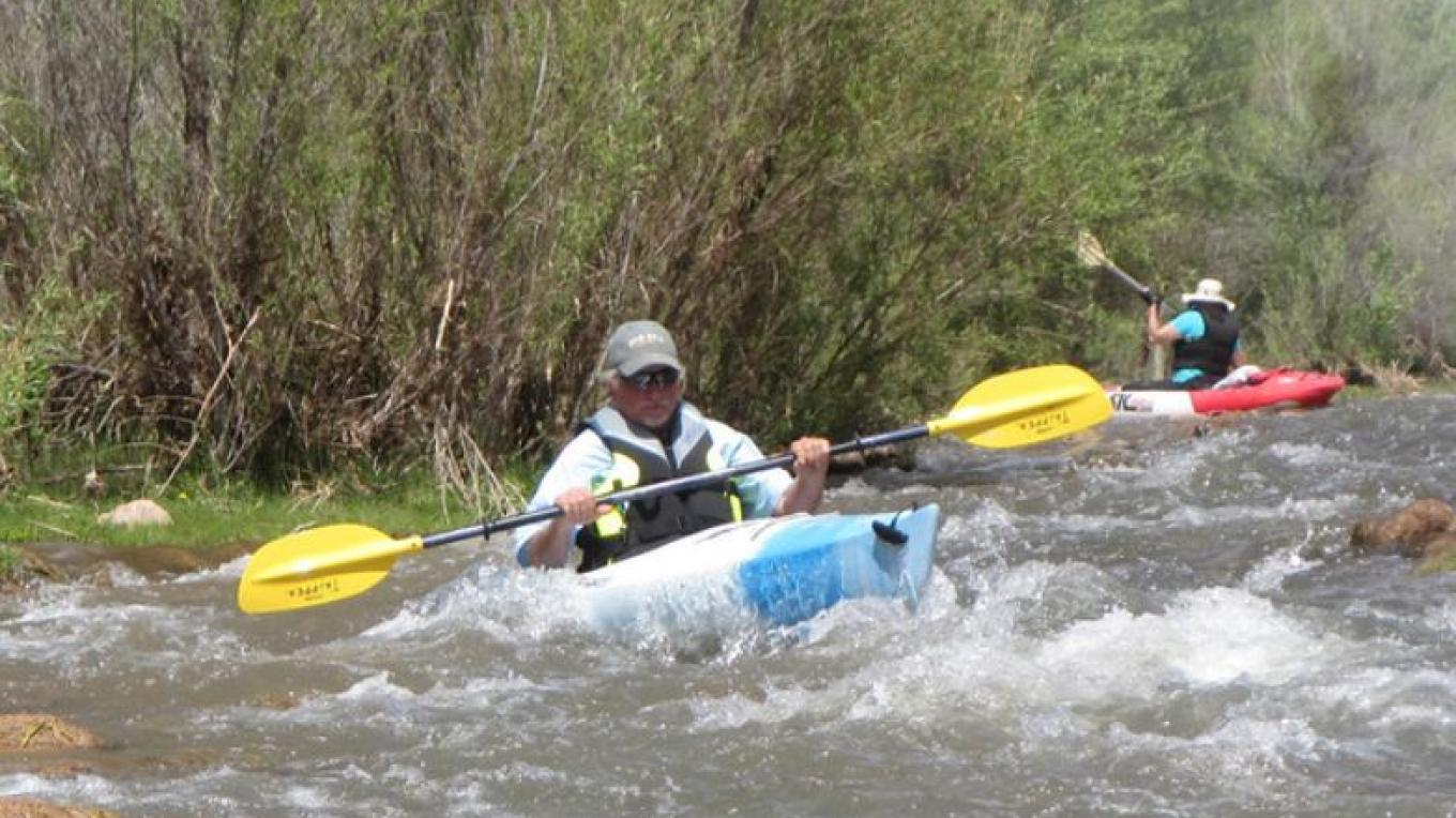 The Verde River offers some faster water – Gayle Mabery