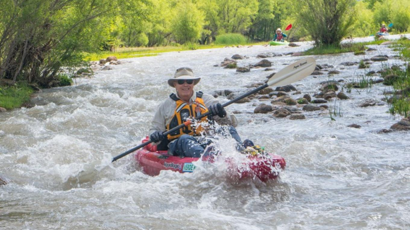 Kayaking in the Verde River @ Clarkdale stretch of the Verde River. – Doug Von Gausig, Critical Eye Photography