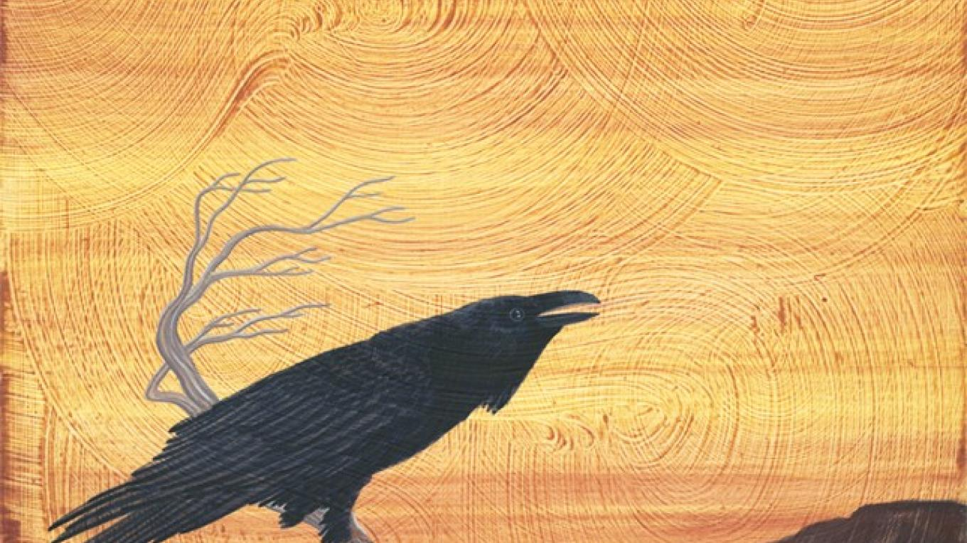 Brother Raven Sings the song of the Medicine Bear to the Gold light of Sky – Renick Turley, Krystal Hanson