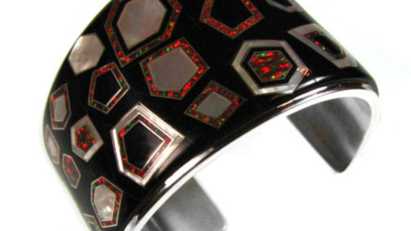 Inlaid bracelet by Kelly Charveaux – photo by Charveaux