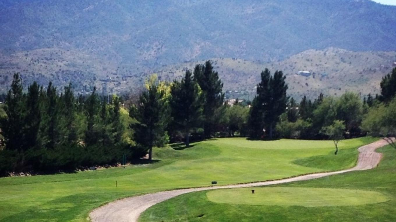 Mingus Mountain as seen from the 9th Tee – Lisa White