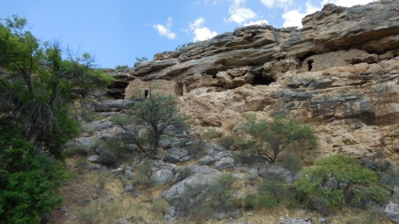 Two cliff dwellings inside rim of Montezuma Well – NPS photo