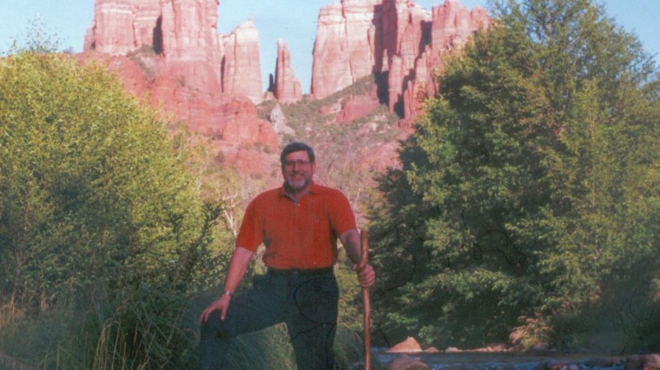 Pete A. Sanders Jr. (author of Scientific Vortex Information book, e-book or DVD) at Red Rock Crossing (Cathedral Rock in Background) – John Faulconer, Virginia, VA